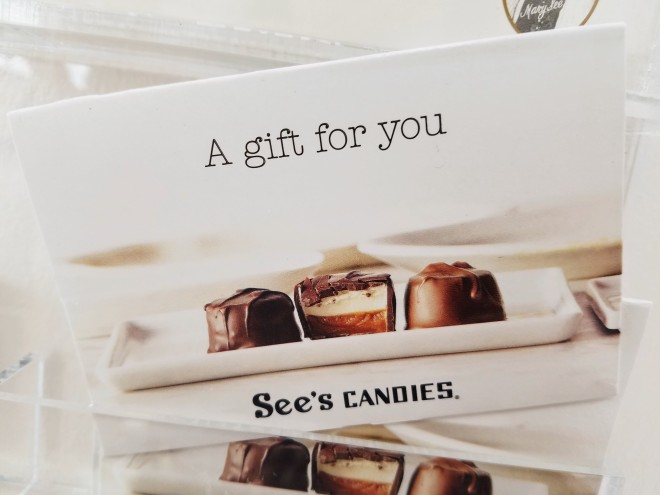 See's Candy giftcard