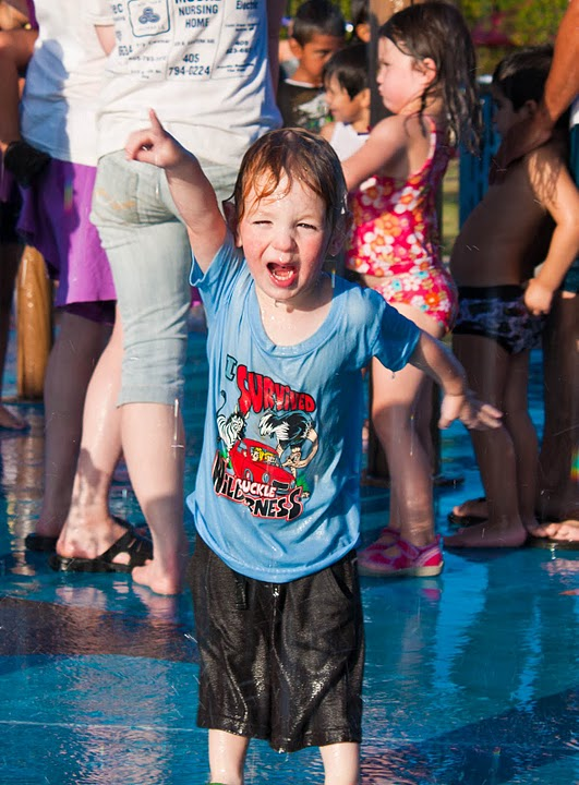summer activity splash pad