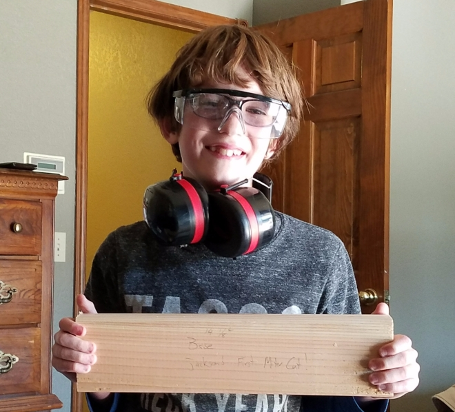 woodworking, kids, teach, ear protection, safety glasses, quality time